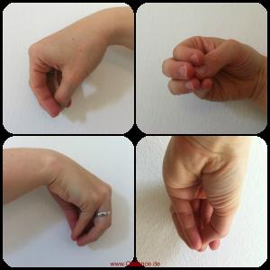 Beak Hand around thumb