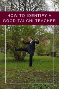How to find a good Tai Chi teacher