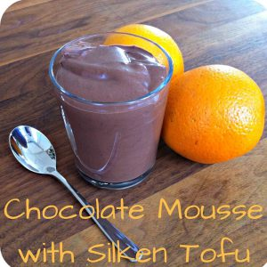 TCM dessert Chocolate Mousse with Silken Tofu according to 5 elements cooking