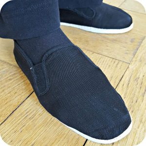 Tai Chi shoes in black canvas