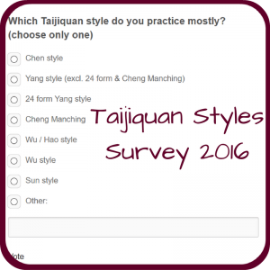 Tai Chi style survey 2016 by Qialance