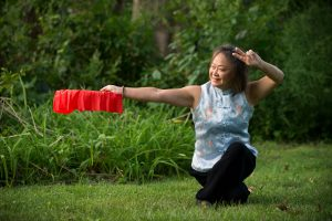 Angela Wong Douglas practicing Tai Chi