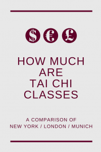 how much are Tai Chi classes NYC, London, Munich