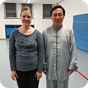 Qialance blogger Angelika Fritz with Chen Bin at a Chen style Taijiquan workshop