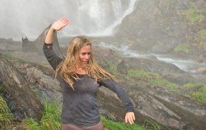 Angela Cooper - Taijiquan at a waterfall