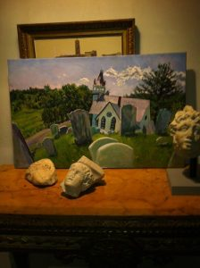 Marilyn Cooper painting: Cemetary at Kemmertown