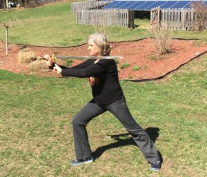 Jamee Culbertson with Tai Chi sword