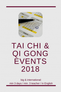 big and international Qi Gong & Tai Chi events 2018