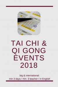 big and international Qi Gong & Tai Chi events 2018